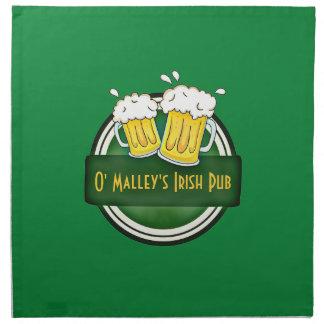 Create Your Own Irish Pub Logo Napkin