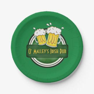 Create Your Own Irish Pub Logo Paper Plate