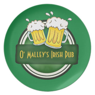 Create Your Own Irish Pub Logo Plate