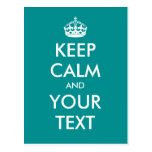 "Create your own ""Keep Calm and Carry On"" (aqua)"