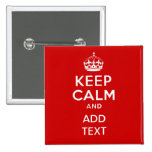 Create your own 'Keep Calm and carry on' crown red