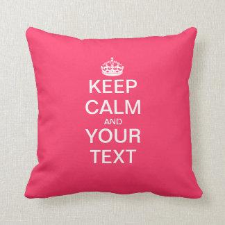 "Create Your Own ""KEEP CALM & CARRY ON""! Cushions"