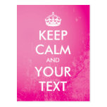 "Create your own ""Keep Calm"" (pink grunge) Postcards"