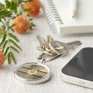 Create your own Keep it simple Silver-Colored Round Key Ring