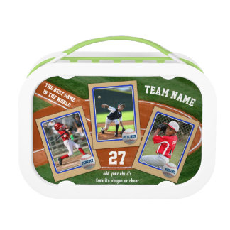 Create Your Own Kids Baseball Cards Sports Collage Lunch Box
