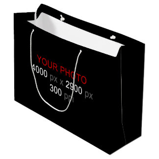 Create Your Own Large 2 Photos Gift Bag Large Gift Bag