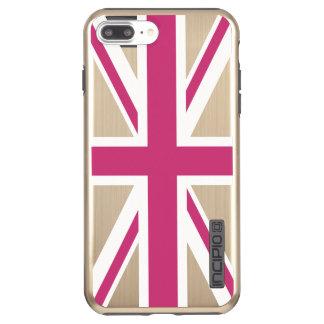 Create Your Own Magenta Union Jack Incipio DualPro Shine iPhone 8 Plus/7 Plus Case