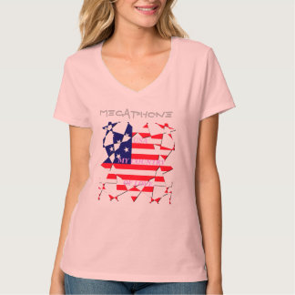 Create Your Own Megaphone Country of Love USA T-Shirt