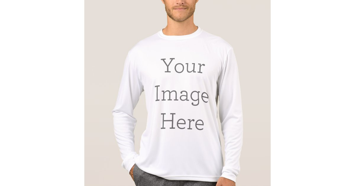 Create your own men 39 s sport tek active t shirt for Design your own athletic shirt
