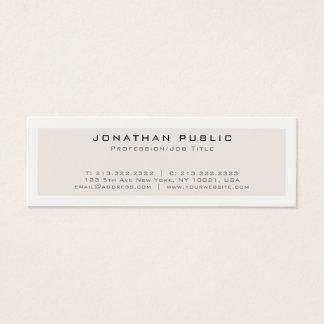 Create Your Own Modern Elegant Minimalistic Design Mini Business Card