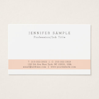Create Your Own Modern Elegant Simple Design Business Card