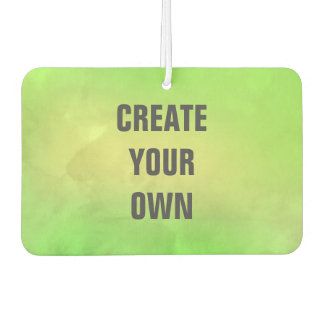 Create Your Own Modern Green Watercolor Painting Car Air Freshener