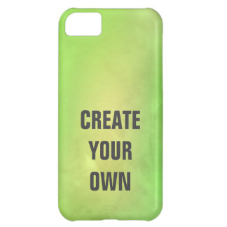Create Your Own Modern Green Watercolor Painting iPhone 5C Case