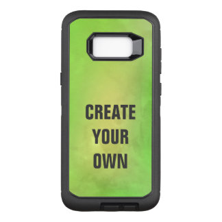 Create Your Own Modern Green Watercolor Painting OtterBox Defender Samsung Galaxy S8+ Case