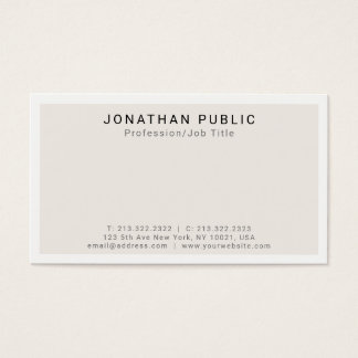 Create Your Own Modern Minimalist Classy Design Business Card