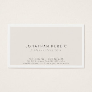 Create Your Own Modern Minimalistic Classy Design Business Card