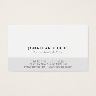 Create Your Own Modern Minimalistic Elegant Design Business Card