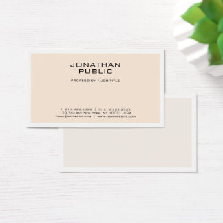Create Your Own Modern Stylish Colors Clean Design Business Card