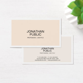 Create Your Own Modern Stylish Simple Design Matte Business Card