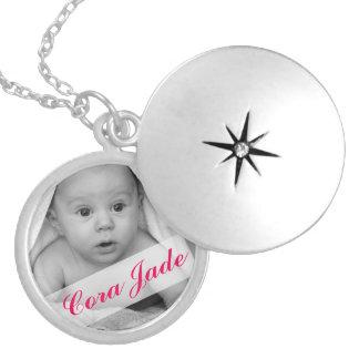 Create Your Own Monogram Photo Round Locket Necklace