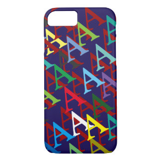 create your own name initial pattern iPhone 7 case