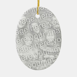 Create Your Own One-Sided Oval Photo Keepsake Ceramic Oval Decoration