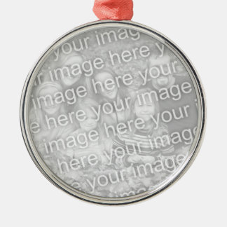 Create Your Own One-Sided Round Photo Keepsake Metal Ornament