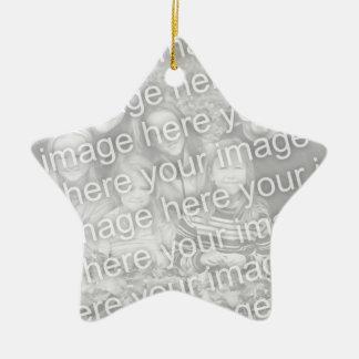 Create Your Own One-Sided Star Photo Keepsake Ceramic Star Decoration