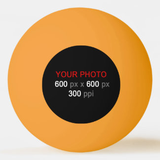 Create Your Own Orange Yellow Ping Pong Ball