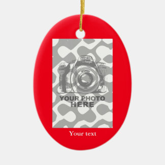 Create Your Own Oval Ornament Red Vertical Photo