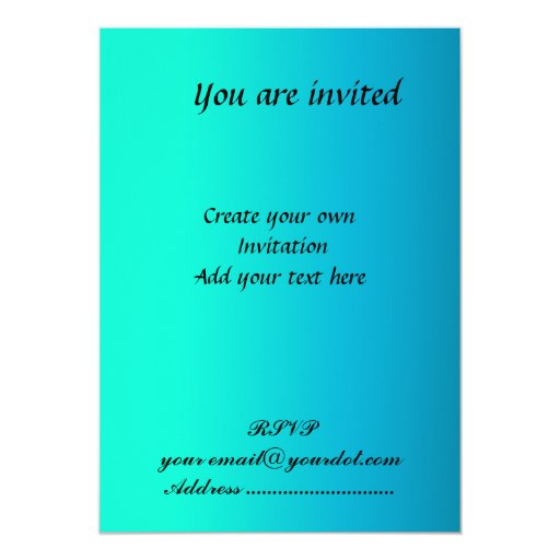 create your own party simple invitation