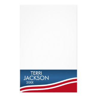 Create Your Own Patriotic Campaign Gear Custom Stationery