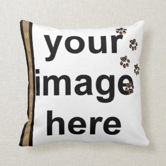 Create Your Own Paw Prints Custom Photo Pet Cushion