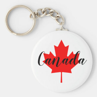 Create Your Own Personalised Canada Red Maple Leaf Key Ring