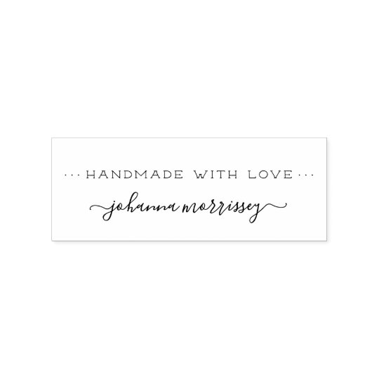 Design Your Own Rubber Stamp: Create Your Own Personalised Handmade With Love Rubber