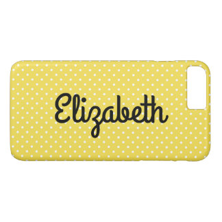 Create Your Own Personalized Tiny White Polka Dot iPhone 8 Plus/7 Plus Case