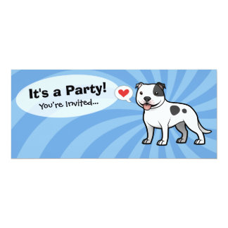 """Create Your Own Pet 4"""" X 9.25"""" Invitation Card"""