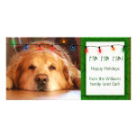 Create your own pet photo holiday card photo card template