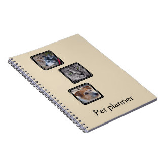 Create your own pet planner notebook