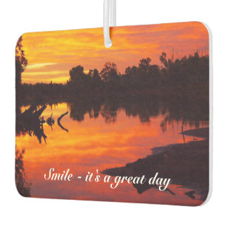 Create your own photo air freshener - sunrise