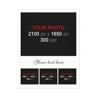 Create Your Own Photo Collage 004 Stretched Canvas Print