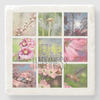 Create Your Own Photo Collage Happiness Stone Coaster