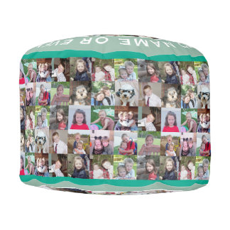 Create your own photo collage - up to 16 Photos Pouf