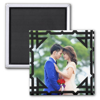 Create your own photo couples square magnet