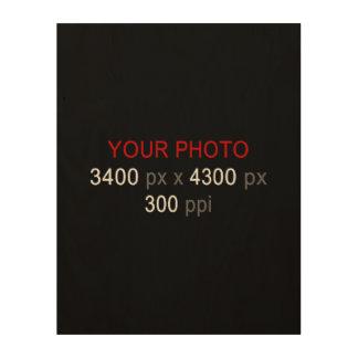 """Create Your Own Photo Custom 11""""x14"""" Wood Canvas"""