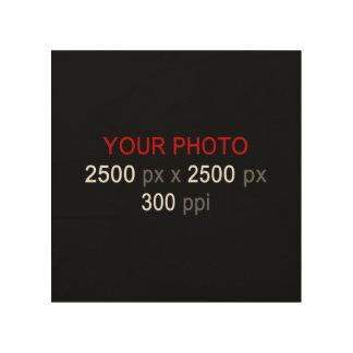 """Create Your Own Photo Custom 8""""x8"""" Wood Canvas"""