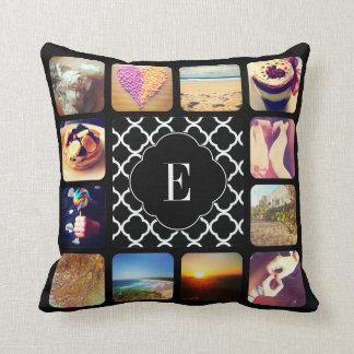 Create Your Own Photo Monogram Throw Cushions