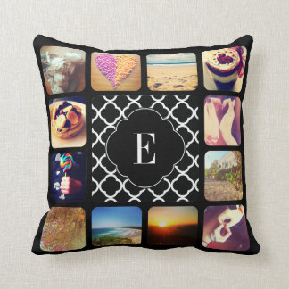 Create Your Own Photo Monogram Throw Pillow