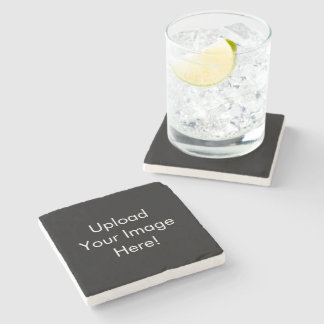 Create-Your-Own Photo Upload Marble Stone Coaster