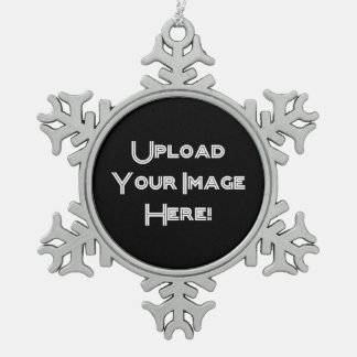 Create-Your-Own Photo Upload Snowflake Ornament